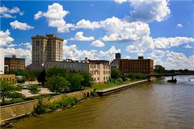 Downtown Saginaw along the Saginaw River