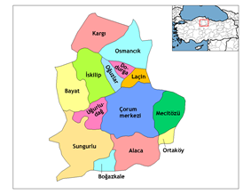 Districts of Çorum