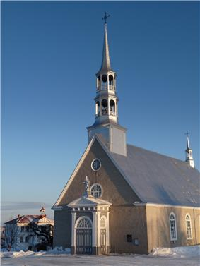 Saint-André-de-Kamouraska Church in winter