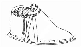 Line drawing of a right shoe