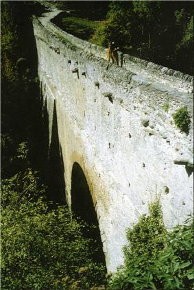 Bridge arch of Pont d'Aël