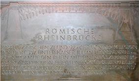 Modern inscription of the Roman bridge