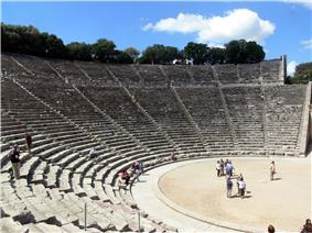Panoramic view of the theatre at Epidaurus