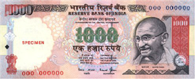 Mahatma Gandhi Series File:Indian Rupee symbol.svg1,000 note