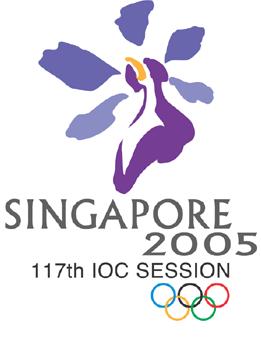 Logo of the 117th IOC Session, Singapore.