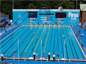 Swimming competition pool from 2005 Worlds.