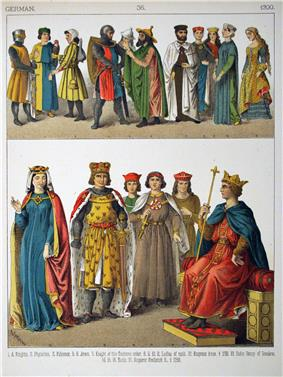 Various German costumes of the period