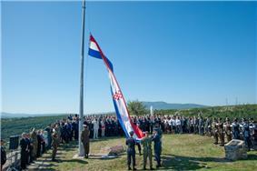 Hoisting of Croatian flag