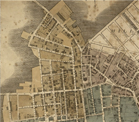 1814 WestEnd Boston map Hales.png