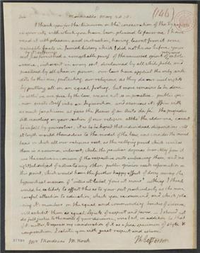 Jefferson's 1818 letter to Mordecai Manuel Noah