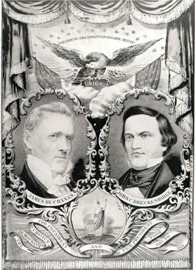 A campaign poster for Buchanan and Breckinridge