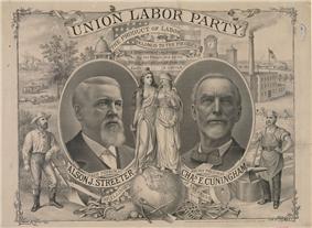 1888 Union Labor Poster