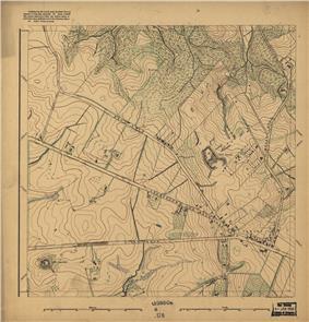1892 Map of Rural Area Around Tenley