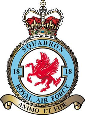 18 Squadron badge