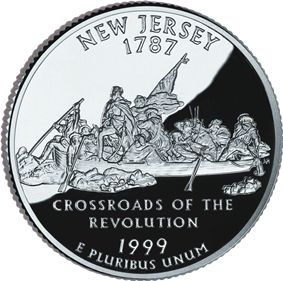 New Jersey quarter dollar coin