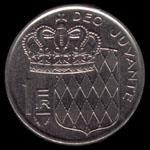 1 Monaco franc 1978 coin reverse