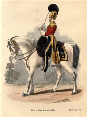 Uniform of the 1st Dragoons, 1839