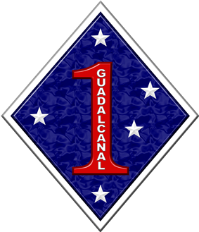 Logo of the US 1st Marine Division