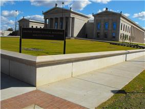 A view of the Tuscaloosa Federal Courthouse as seen University Blvd