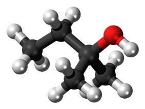 Ball-and-stick model of 2-methyl-2-butanol