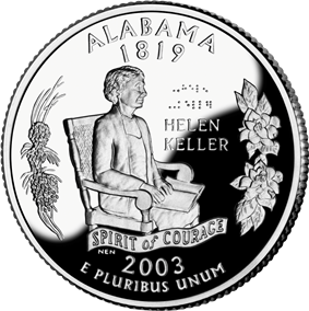 Alabama quarter dollar coin