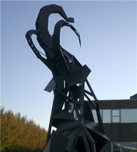 Mammoth Sculpture Outside Erasmus Darwin building