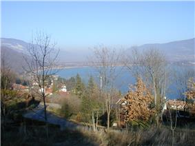 The Lac du Bourget seen from Conjux
