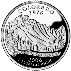 Colorado quarter dollar coin