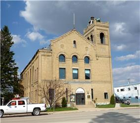 The Watson Arts Centre was built in 1905 to house the town hall, fire station and RCMP detachment.