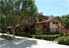 The Sanger Depot Museum is located in the old Sanger Railroad Depot