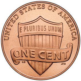 Union shield penny, 2010