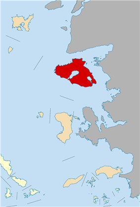 Lesbos within the North Aegean