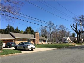 Homes along Decou Avenue in the Altura section of Ewing, New Jersey