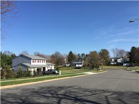 Homes along Tina Drive in the Briarwood section of Ewing, New Jersey