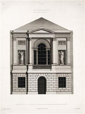 20 St James's Square - elevation of the offices towards the back court 1777.jpg