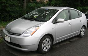 A second generation Toyota Prius.