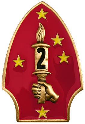 Logo of the US 2nd Marine Division