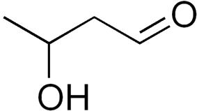 Skeletal formula of 3-hydroxybutanal