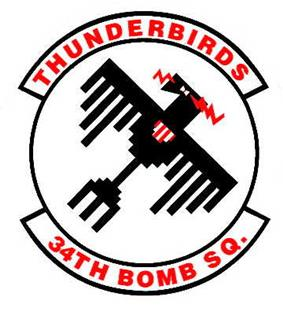 34th Bomb Squadron Patch