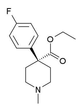 Chemical structure of 4-Fluoromeperidine.