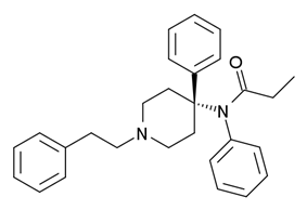 Chemical structure of 4-Phenylfentanyl.