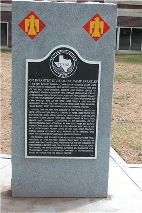 A large plaque with an inscription