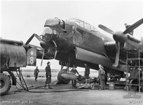 A No. 463 Squadron Lancaster in 1944