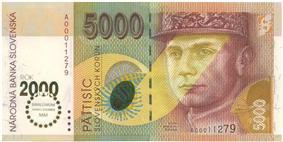5000 korún obverse