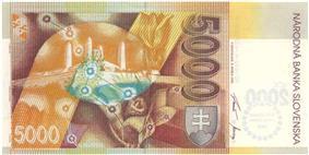 5000 korún reverse