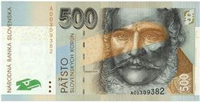 500 korún obverse