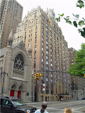 The building at 55 Central Park West, also known as the Ghostbusters Building