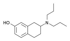 Kekulé, skeletal formula of 7-OH-DPAT