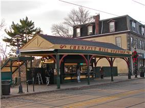 Chestnut Hill West SEPTA Station on Germantown Avenue