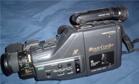 Older black camcorder